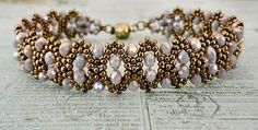 Linda's Crafty Inspirations: Bracelet of the Day: Bobble Bangle - Pale Purple