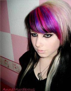 I like the pink and purple together.