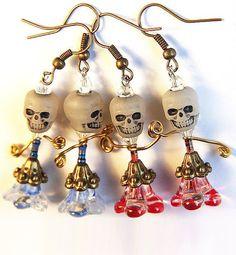 #Halloween Earrings Skull Glow in the Dark Funny Big by GeekeryDOO, $22.00 #jewelry #earrings