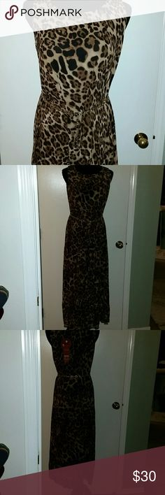 Animal print maxi dress Animal print maxi dress size large NWT dress does not include belt IUOMEIDIFHA Dresses Maxi