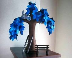 Copaci handmade din pasla 6