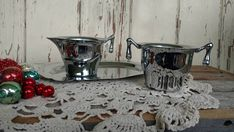 Check out this item in my Etsy shop https://www.etsy.com/listing/540985321/mid-century-chrome-silver-creamer-sugar