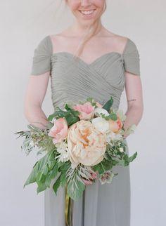 Peony bouquet.  Photography: Elizabeth Messina - elizabethmessina.com