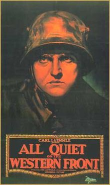 All Quiet on Western Front (1930) #3 - Drama ..... Competition:  Big House,   Disraeli,  Divorcee, and Love Parade.