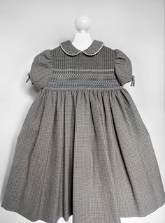 Constance Smocking Woolen Dress - 2 to 3 years