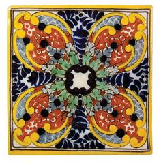 Decorative Tiles Enchanting Amazon  4X4 Guadalajara  Talavera Mexican Tile  Decorative 2018
