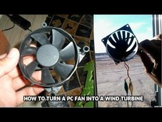 Old PC Fan ----> Wind Turbine in 10 Minutes: I looked at some old PC Fans I have and thought that they can be used as Small Wind Turbines. It has been my dream for a long time to make a wind turbine generator even to light an LED. The PC Fan is Brushless DC ( BLDC) Motor. It can be converted...