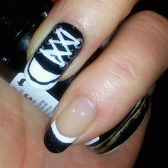 Converse Sneaker nails!!  CHUCKS!!