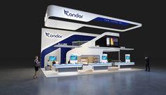Condor on Behance Exhibition Stall, Exhibition Booth Design, Exhibition Display, Exhibit Design, Stand Design, Ui Design, Double Deck, Interior Concept, Trade Show