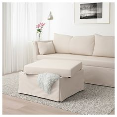 IKEA - SANDBACKEN, Sectional, corner, Lofallet beige, You sit comfortably thanks to the resilient foam and springy seat. You can use the ottoman as an extra seat or as a comfortable extension of the sofa. Sectional Covers, Sleeper Sectional, Corner Sectional, Beige Sectional, Sectional Couches, Sleeper Chair, Sofa Beds, Cheap Couch, Cheap Sofas