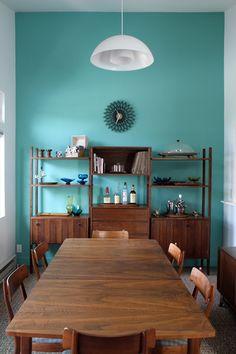 This color is Martha Stewart Living Araucana Teal interior paint.