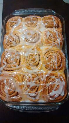 Los Cinnamon Roll,  me quedaron muy buenos!!