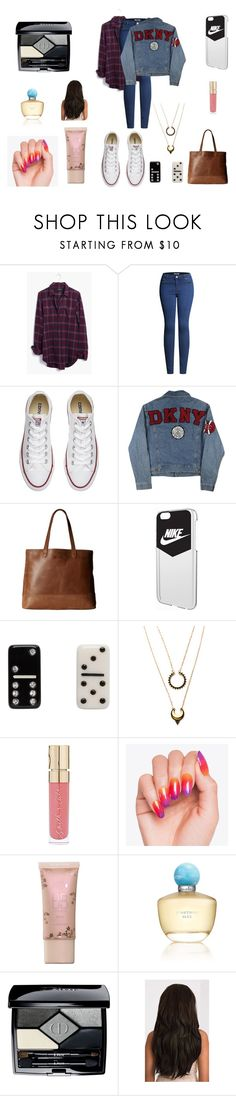 """""""Sin título #5524"""" by gise19 ❤ liked on Polyvore featuring Madewell, 2LUV, Converse, DKNY, SOREL, NIKE, Marc Jacobs, WithChic, Smith & Cult and Oscar de la Renta"""