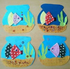 Animal Art Projects For Kids Preschool Crafts For Preschoolers 70 Ideas Kids Crafts, Daycare Crafts, Summer Crafts, Toddler Crafts, Projects For Kids, Art Projects, Arts And Crafts, Paper Crafts, Ocean Crafts