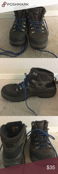 Men's LL Bean hiking boots Comfy and durable, slightly used hiking boots. Purple laces. Made in Italy. So much life left to live. Great for the outdoors! L.L. Bean Shoes Boots