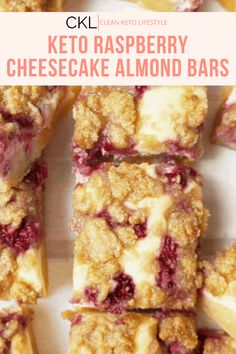These Keto Raspberry Cheesecake Bars are going to be your new favorite keto dessert! They are a keto, low-carb, grain-free, gluten-free treat made to share with family and friends. Raspberry Cheesecake Bars, Oreo Cheesecake, Pumpkin Cheesecake, Healthy Low Carb Recipes, Keto Recipes, Cake Recipes, Cooking Recipes, Ketogenic Recipes, Chocolate Chip Recipes