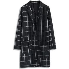 Black and white are considered two of the most easy matching colors for clothes, with plaid check pattern printed all over, this longline blazer has become an …