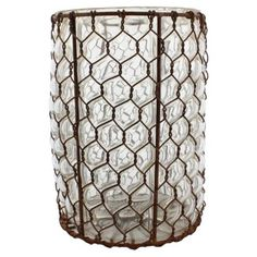 """Check out this item at One Kings Lane! 8"""" Vallarta Glass Vase"""