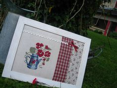 Pot capucines Picnic Blanket, Outdoor Blanket, Cross Stitch Kitchen, Cross Stitch Pictures, Le Point, Great Artists, Needlework, Projects To Try, It Is Finished