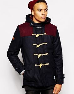 Buy Bellfield Wool Duffle With Contrast Yoke Panels at ASOS. With free delivery and return options (Ts&Cs apply), online shopping has never been so easy. Get the latest trends with ASOS now. Saved Items, Motorcycle Jacket, Fashion Online, Latest Trends, Contrast, Asos, Mens Fashion, Hoodies, Navy