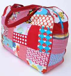 Gingercake Red Patchwork Duffle