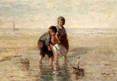 Children Playing By The Seaside....réépinglé par Maurie Daboux ✺❃✿