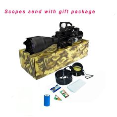 Hunting AR15 Tactical Rifle Scope Combo C4-16x50EG with Green Laser and 4 Holographic Red&Green Dot Sight (12 Month Warranty) for 22&11mm Weaver/Picatinny Rail Mount