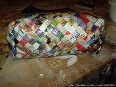 ZONA DE MANUALIDADES: Lindos Bolsos reciclando Papel