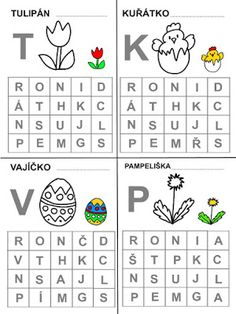 Pro Šíšu: Pracovní listy ČTEME PÍŠEME Easter Activities For Kids, Montessori, Worksheets, Kindergarten, Preschool, Jar, Teaching, Writing, Education