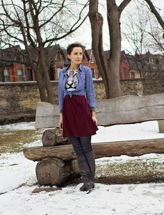 Graphic Tiger dress, with a plaid button up shirt and slouchy boots.