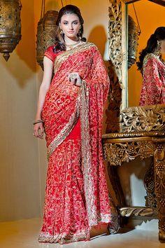 Shop online at http://www.satyapaul.com/satyapaul/shop/bridal-wear/bridal-sarees/esw1825 and visit us at   http://www.facebook.com/SatyaPaulIndia