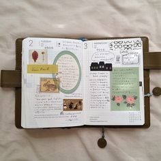 I love the simplicity of her page decorations. Calming and pretty.