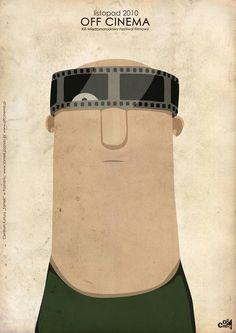 Off Cinema Festival (2010) - poster by Emilia Dziubak