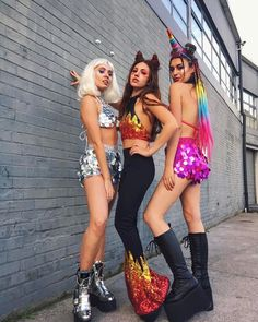 Festival outfits - The COOLEST Halloween Costume Ideas for Teens – Festival outfits Festival Looks, Festival Mode, Rave Festival, Festival Wear, Festival Fashion, Tiger Halloween, Cool Halloween Costumes, Rave Costumes, Festival Costumes