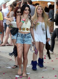 2011: Walks barefoot across her kingdom while wearing a thigh necklace: | A History Of Vanessa Hudgens At Coachella