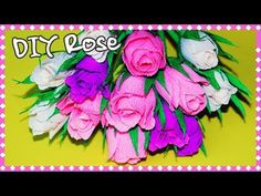 Flowers making | How to make crepe paper rose | DIY paper flowers | Julia DIY - YouTube