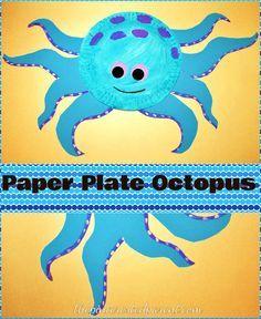 Paper Plate Octopus - summer craft