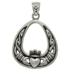 Jewelry Trends Sterling Silver Celtic Claddagh Teardrop Pendant #jewelrytrends