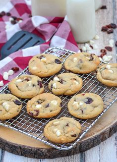 White Chocolate Cranberry Cookies, White Chocolate Chips, Chocolate Chip Cookies, Ginger Cookies, Yummy Food, Brownies, Desserts, Sons, Recipes