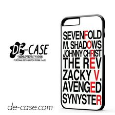 Avenged Sevenfold Quotes Forever DEAL-1191 Apple Phonecase Cover For Iphone 6 / 6S