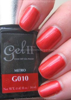 Gel Ii Metro Polish Mani Pedi Swatch Palm Red