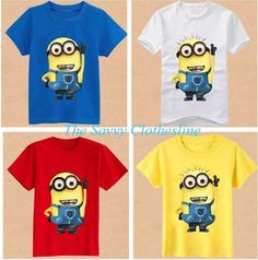 Bring out your lil' ones inner minion or superhero! Boys Cotton Graphic Tees, Now Listed Minion, Superman, Batman, Spiderman, Headphones  Ordering closes Friday, July 24th and delivery is estimated at 45 days  Order here: http://thesavvyclothesline.storenvy.com/products/13859199-boys-graphic-t-shirt-0715-8-04
