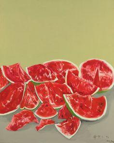 thunderstruck9: Zeng Fanzhi (Chinese, b. 1964), Watermelon, 1996. Oil on canvas, 99.4 x 80 cm.