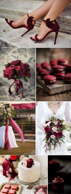 цвет свадьбы марсала