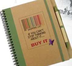 Shopping List Gift Idea To Do List Green Quote by LooveMyArt