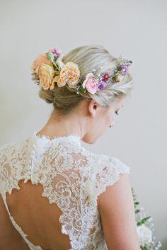 floral crown perfection // photo by The Weaver House // http://ruffledblog.com/bohemian-ashland-wedding