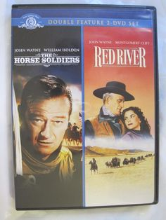 The Horse Soldiers and Red River DVD | Western with: Wayne, Holden, Ford, Hawks