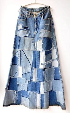 Chic Outfits, Fashion Outfits, Denim Outfits, Denim Ideas, Denim Crafts, Recycle Jeans, Jeans Denim, Recycled Denim, Denim Fashion