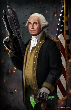 """""""George Washington: The Original Master Chief""""   The 17 Most Epic Pieces Of Presidential Fan ArtEver"""