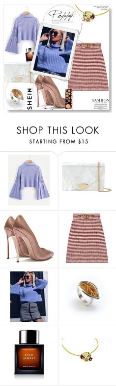 """knit sleeve jumper"" by lissabeta10 ❤ liked on Polyvore featuring MICHAEL Michael Kors, Gucci, BoonTheShop and MAC Cosmetics"
